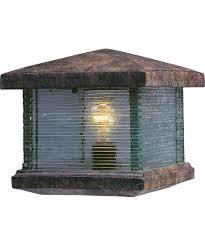 Patio Column Lights Maxim Lighting 48736 Triumph Vx 1 Light Outdoor Pier L