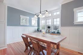 Pictures Of Wainscoting In Dining Rooms Installing Beadboard Wainscoting Dining Room Craftsman With