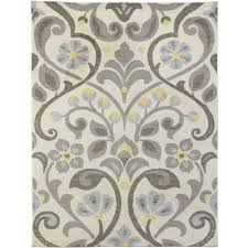 nylon area rugs spaces by welspun nylon printed area rug scroll neutrals