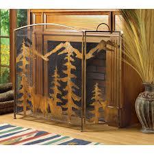 western rustic fireplace screens decorative design ideas and decor