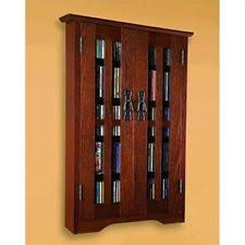 Cd And Dvd Storage Cabinet With Doors Oak Finish Arts Crafts Mission Style Cd U0026 Video Racks Ebay
