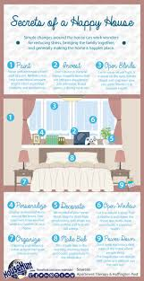 home decor infographic secrets of a happy house infographic real estate blog