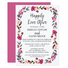 elopement invitations fairytale wreath elopement reception card zazzle