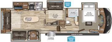 Rockwood Camper Floor Plans 2017 Forest River Sandpiper 389rd Model Sandpiper Rv Floor Plans