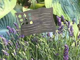 metal flower garden stakes garden stakes