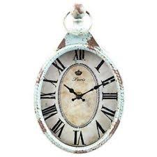 vip home u0026 garden mj8193 stylish wall clock with distressed blue