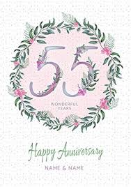 55th wedding anniversary 55th wedding anniversary cards emerald funky pigeon