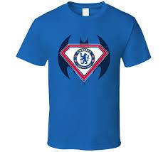 chelsea football club superman batman logo t shirt nba nfl