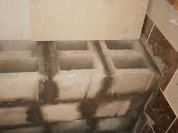 accessories inside shower benches concrete block for bathroom