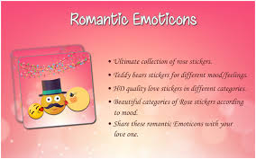 romantic emoticons romantic stickers android apps on google play