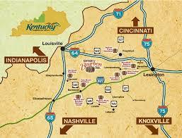 kentucky map bardstown distillery map bourbon buzz