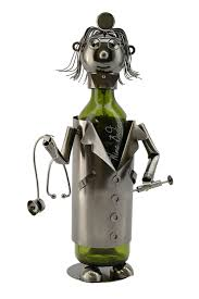 amazon com wine bodies zb1030 lady doctor metal wine bottle
