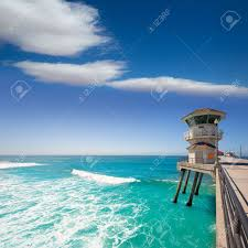 huntington beach main lifeguard tower surf city california usa huntington beach main lifeguard tower surf city california usa stock photo 22394238