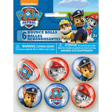 paw patrol bouncy ball party favors 6ct walmart