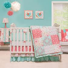 Nursery Bedding And Curtains by Simple Girls Nursery Bedding With White Bed Frame Applied On The