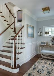 Crown Molding For Vaulted Ceiling by Ikat Rug In Staircase Victorian With Modern Crown Molding Next To