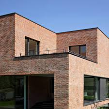 Modern Brick Wall by Architectures Wall Material Combined Among Glass Sliding Door