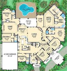 6 bedroom house plans luxury 6 bedroom modern house plans ipbworks com