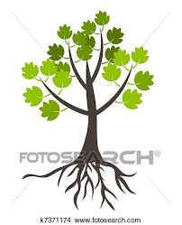 clipart of tree with roots k7371174 search clip