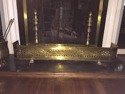 find more 4 claw foot pierced brass fireplace fender for sale at