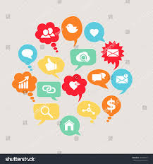 vector social network icons set people stock vector 195440513