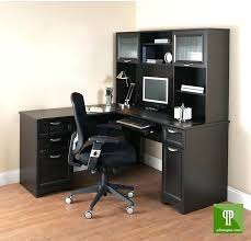 L Shaped Computer Desk With Storage L Shaped Black Computer Desk Furniture Brown Wooden Table