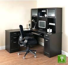 L Shaped Computer Desk With Storage L Shaped Black Computer Desk Furniture Brown Wooden Table