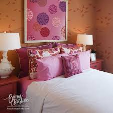 Floral Wall Stencils For Bedrooms Zinnia Flower Stencils Baby Bloomers Set Royal Design Studio