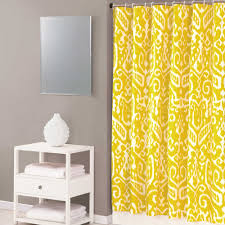 Yellow And White Shower Curtain Bathroom Pink Eclectic Ikat Shower Curtain For Bathroom Pink And