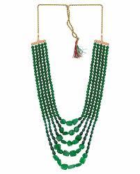 green stones necklace images Buy designer mens necklaces groom jewellery green stones necklace jpg