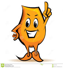 cartoon character attention sign stock images image 15767294
