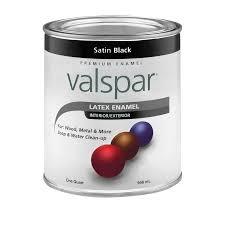 shop valspar satin black satin latex enamel interior exterior