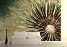 close up of dandelion seed wall mural wallpaper shop online