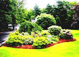 residential landscape design simple landscaping ideas using mulch