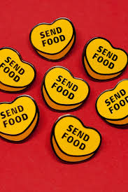 send food send food enamel pin independent streetwear from vienna