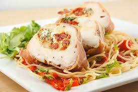 Main Dish Chicken Recipes - ricotta and sun dried tomato stuffed chicken