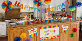 rainbow birthday party supplies party city