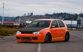 volkswagen gti custom nice hood hid lights and rims too much drop for my taste mk4