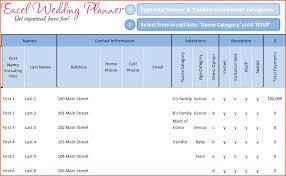 Wedding Guest List Excel Template 6 Wedding Guest List Template Excel Bookletemplate Org