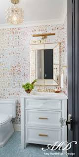 wallpaper bathroom designs bathroom design featuring gold accents and patterned wallpaper