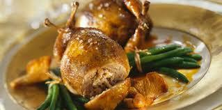 caille cuisine caille aux chignons recette sur cuisine actuelle