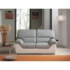 canape cuir blanc et gris canap d 39 angle en cuir italien 8 places nordik table offerte gris