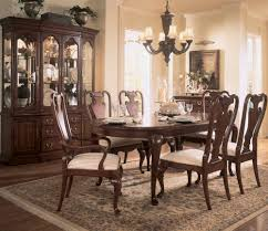 american drew cherry grove 9 piece leg dining room set in antique
