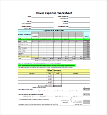 Trip Expense Tracker by 9 Expense Sheet Templates Free Sle Exle Format