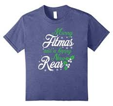 merry fitmas funny christmas workout shirt fitness trainer best