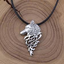 silver wolf necklace images Wolf sigil necklace fanduco jpg