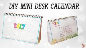 Small Desk Calendars Diy Mini Calendar 2017 Desk Calendar Step By Step Tutorial