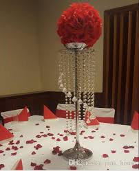 Crystal Chandelier Centerpiece Elegant Wholesale Tall Crystal Flower Stand Centerpieces For