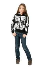 Gothic Halloween Costumes Girls U0027s Skeleton Hoodie Gothic Punk Emo Skull Sweatshirt Child