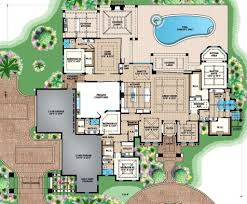 mediterranean style house plan 4 beds 4 50 baths 7364 sq ft plan